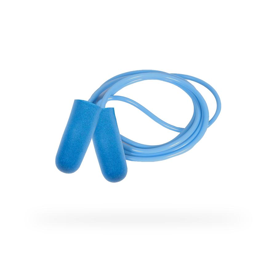 Zátky do uší JACKSON SAFETY H10 spojené šňůrkou, jednorázové s kovem, 8 x 100 párů