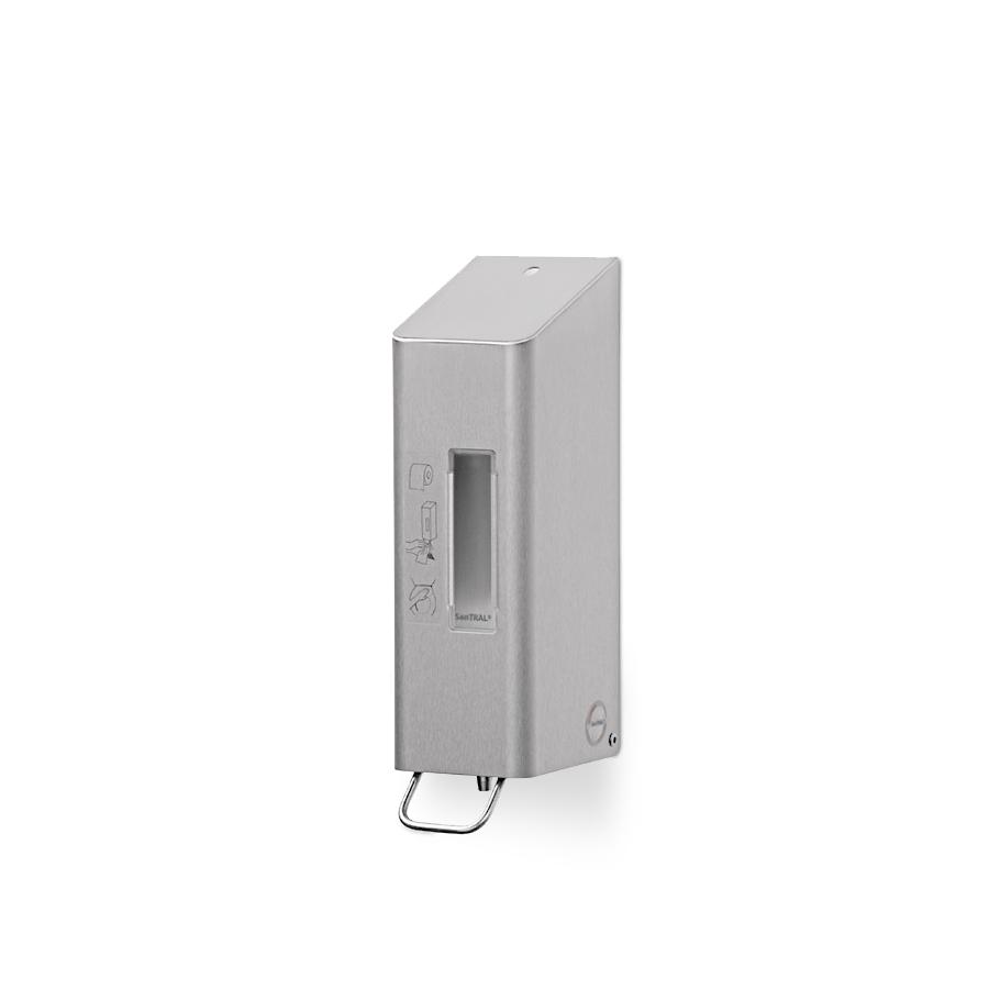 Dávkovač dezinfekce na čištění sedátka SANTRAL TSU 5 E/D, 0,6 l, nerez matný