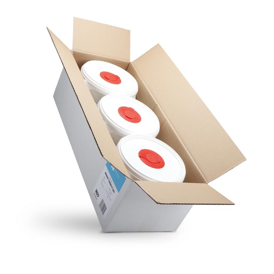Utěrky ARIOSO ForWett DRY suché, 3 kyblíky včetně náplně, 250 x 300 mm