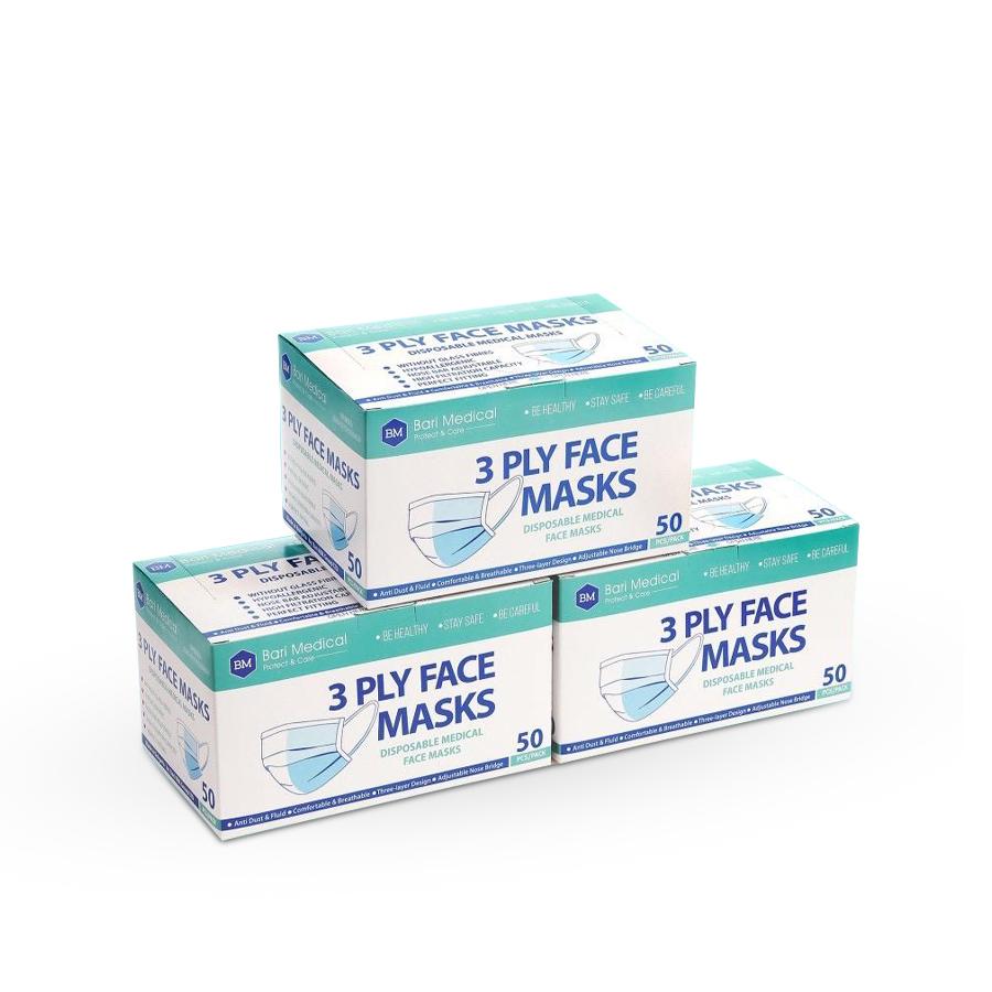 Ochranné zdravotní roušky | 50 kusů