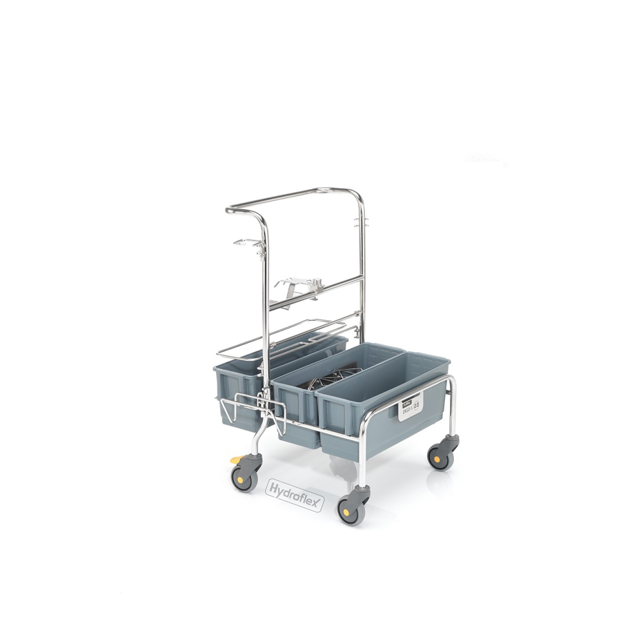Vozík úklidový PurMop® 2.0 ERGO 210, bezkontaktní, se třemi plastovými kbelíky