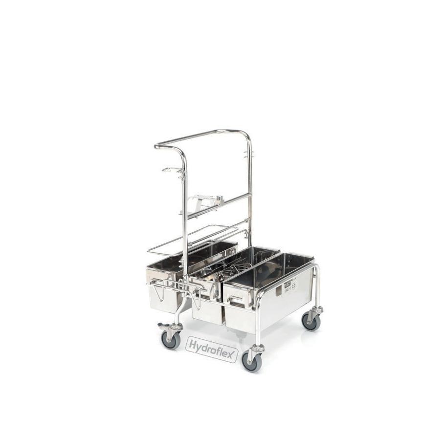 Vozík úklidový PurMop® 2.0 ERGO-S 210, bezkontaktní, se třemi kbelíky