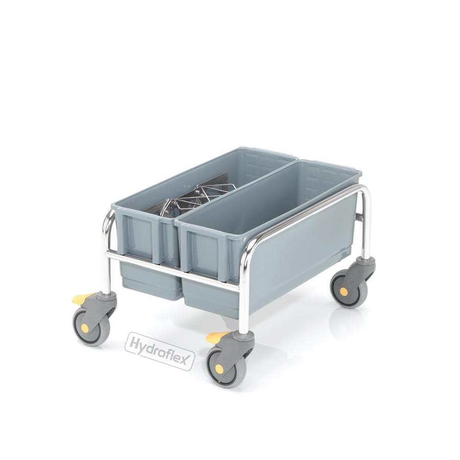 Vozík úklidový PurMop® 2.0 ERGO 200, bezkontaktní, se dvěma kbelíky