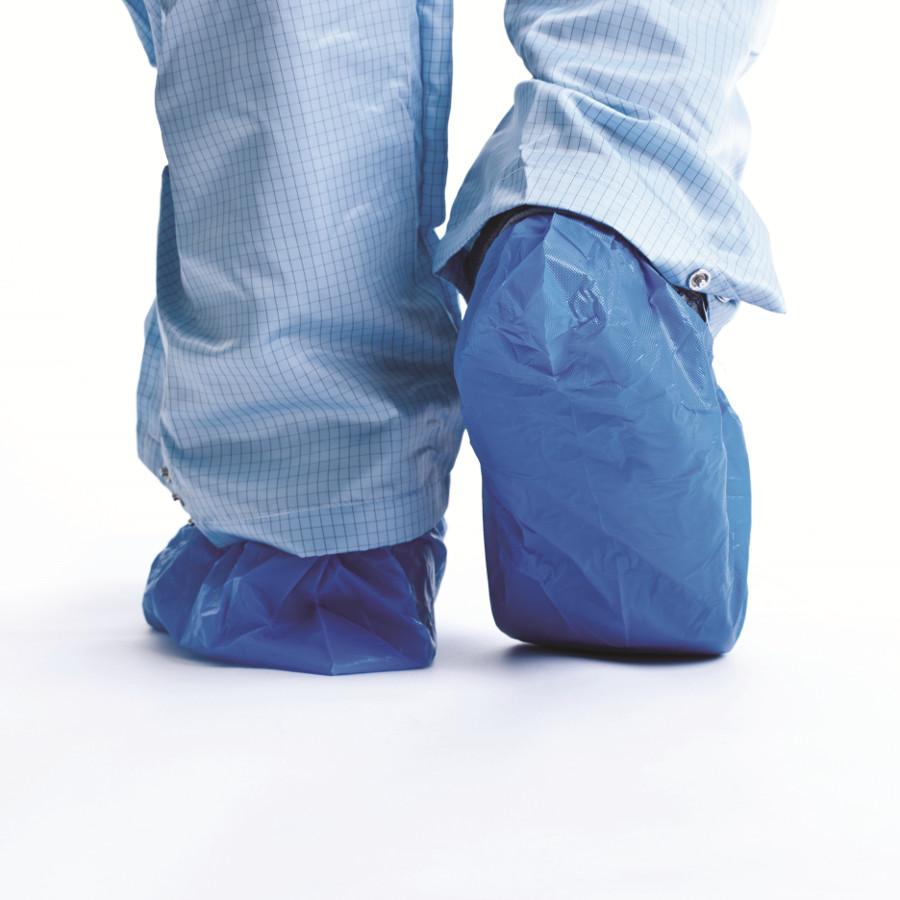 Návleky ochranné na obuv, 41cm, modré