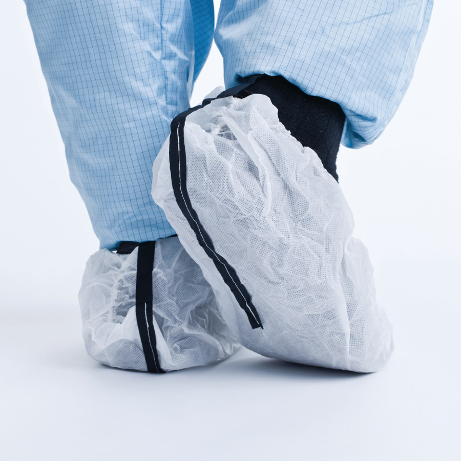 Návleky ochranné na obuv SAFESTEP ESD, s vodivou páskou, bílé