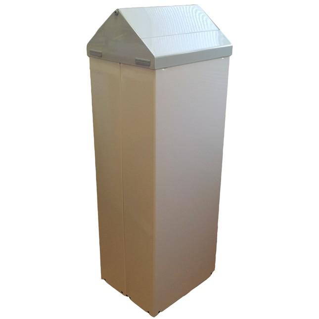 Koš SANTRAL TB 90 P 50 l, kovový, bílý