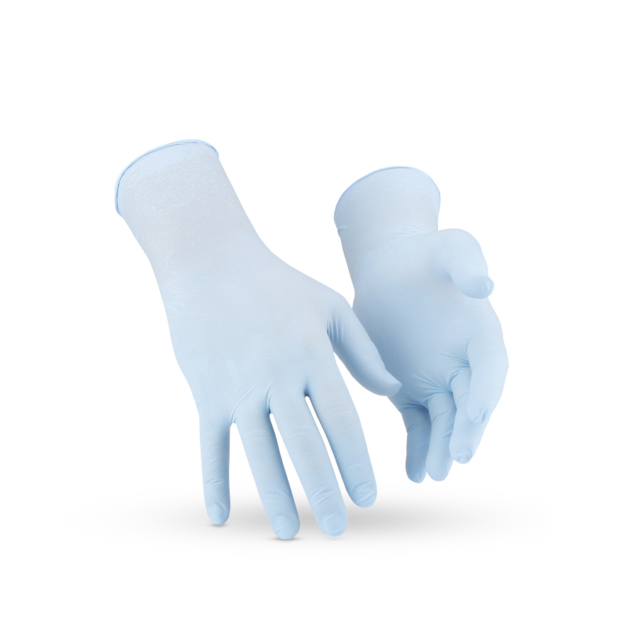 Rukavice ARIOSO NITRILE GLOVES, modré, S/6, 200 ks