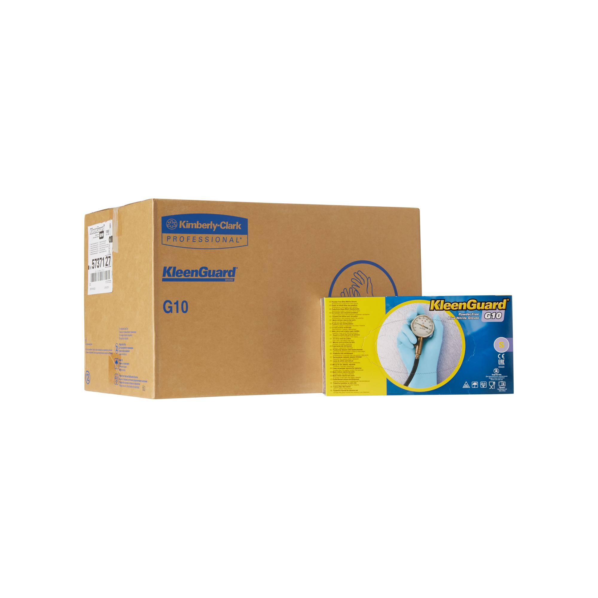 Rukavice KleenGuard* G10 NITRIL, modré, S, 1000 ks