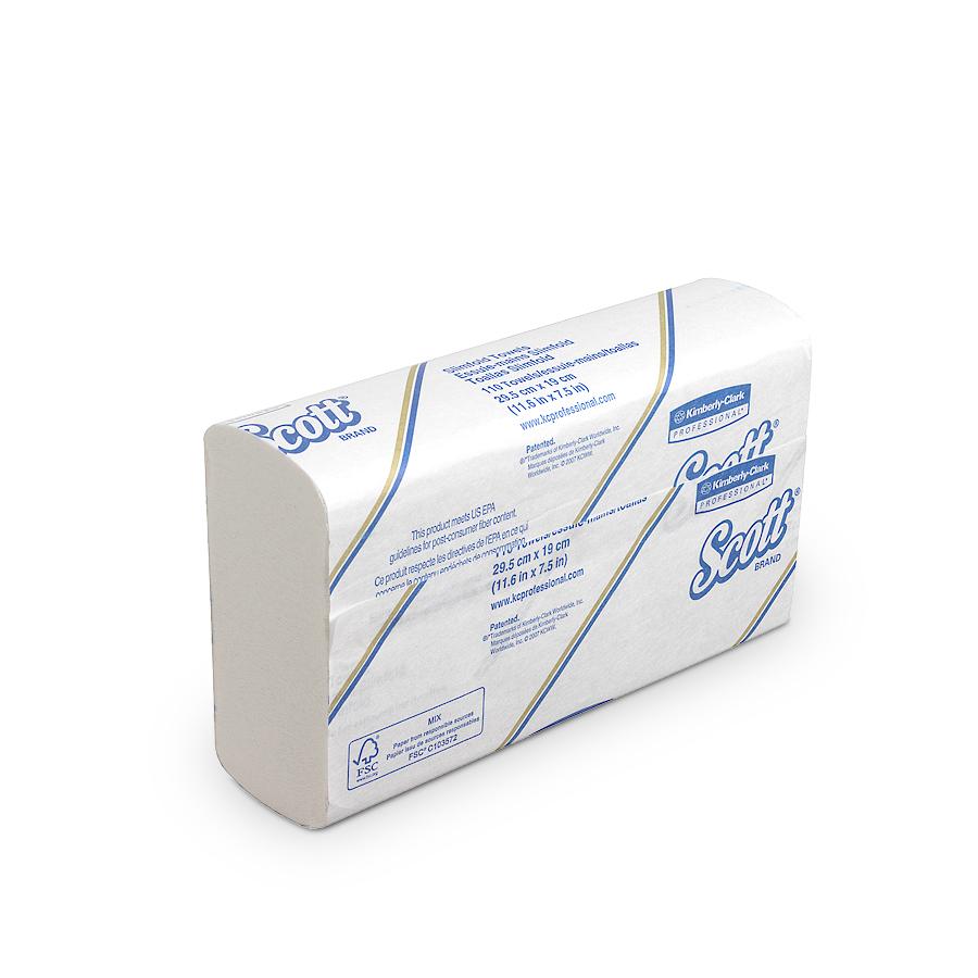 Ručníky SCOTT SLIMFOLD sklád., bílé, 1 vrstva, 1760 ks, 16 balíčků x 110 ks