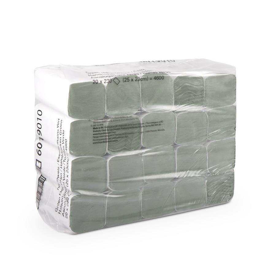Ručníky Z zelené, 1 vrstva, 4 600 ks, 20 balíčků x 230 ks