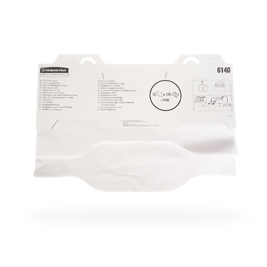 Podložky na WC KC PROFESSIONAL, jednorázové, bílé, 12 x 125 ks