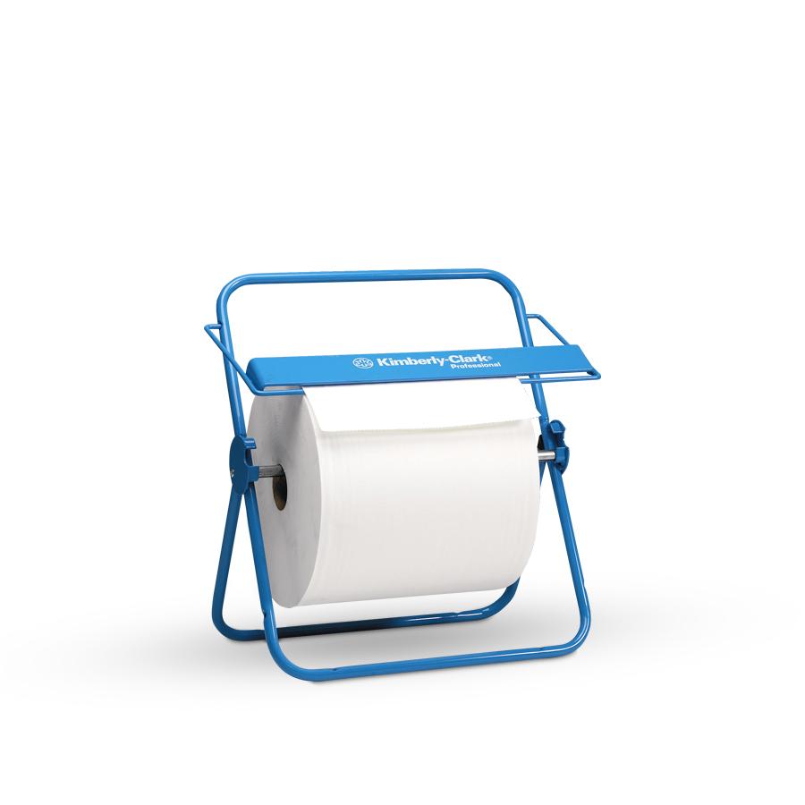 Držák velkých rolí papírových utěrek, nástěnný modrý