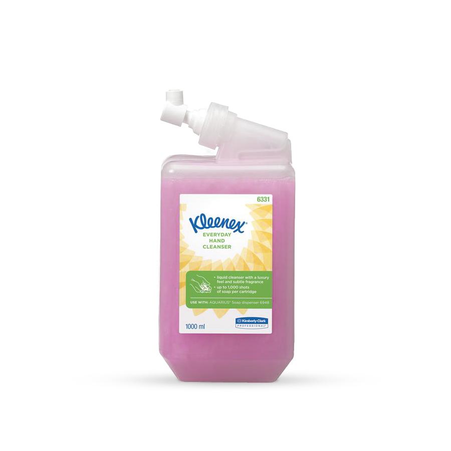 Mýdlo tekuté K-CLARK KIMCARE GENERAL 6 x 1 l láhev, růžové