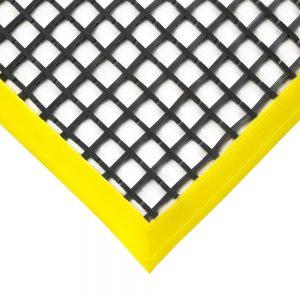 Rohož WorkStation 2222,  0,6 x 1,2 m, černá se žlutou hranou