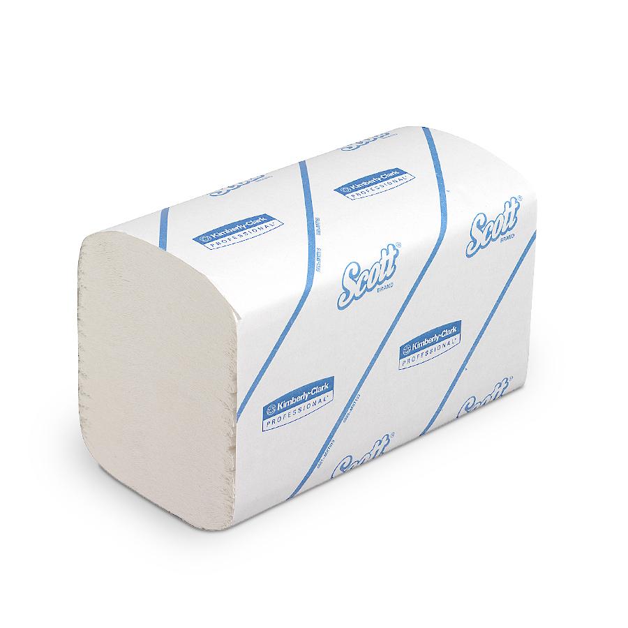 Ručníky skl. SCOTT  ESSENTIAL, bílé, 1 vrstva, 5100 ks, 15 balíčků x 340 ks