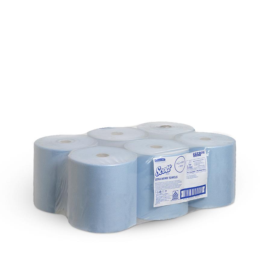 Ručníky SCOTT modré, 1 vrstva, 6 rolí x 304 m