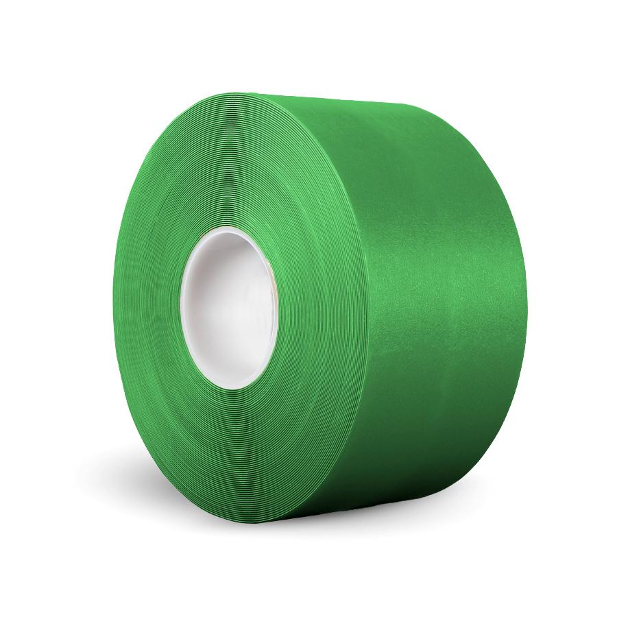 Páska P-Route, 100 mm x 30 m, zelená, vyznačovací, tloušťka 0,96 mm