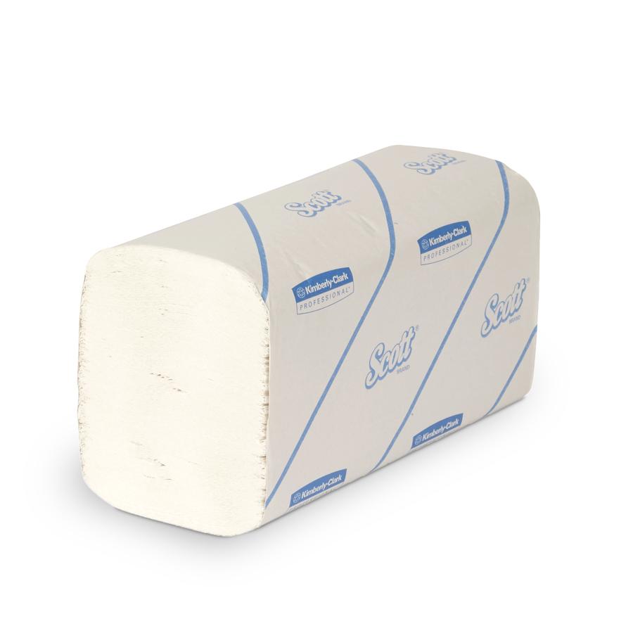 Ručníky SCOTT, bílé, 1 vrstva, 4800 ks, 15 balíčků x 320 ks