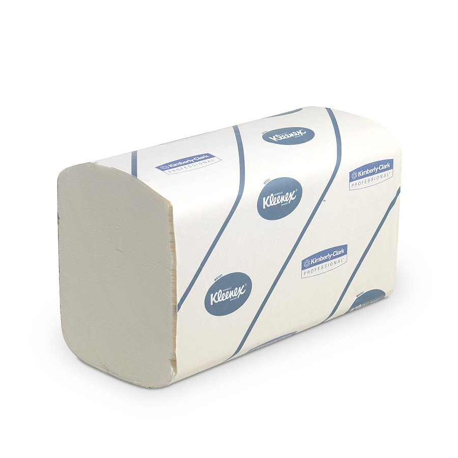 Ručníky KLEENEX ULTRA, bílé, 2 vrstvy, 3720 ks, 30 balíčků x 124 ks