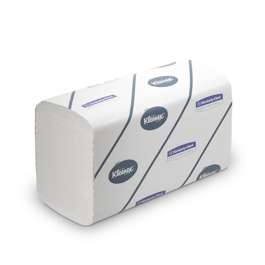 Ručníky KLEENEX ULTRA, bílé, 2 vrstvy, 2790 ks, 15 balíčků x 186 ks