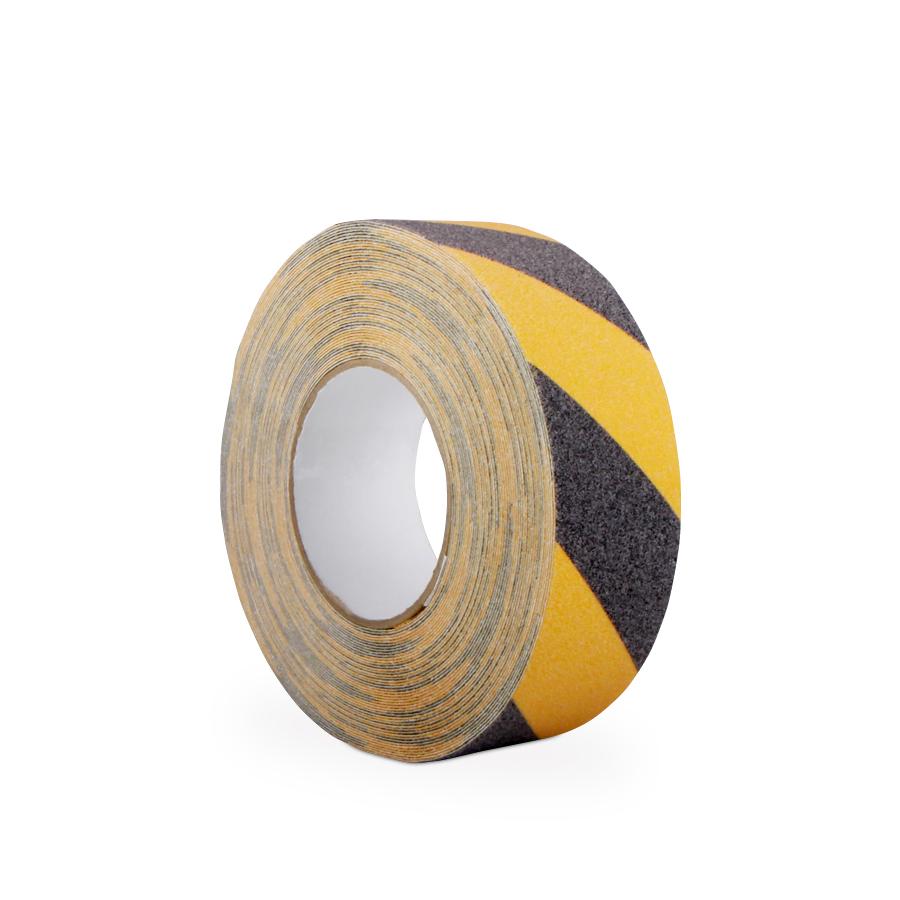 Páska GRIPFOOT HAZARD 50 mm x 18,3 m, černá/žlutá, protiskluzová