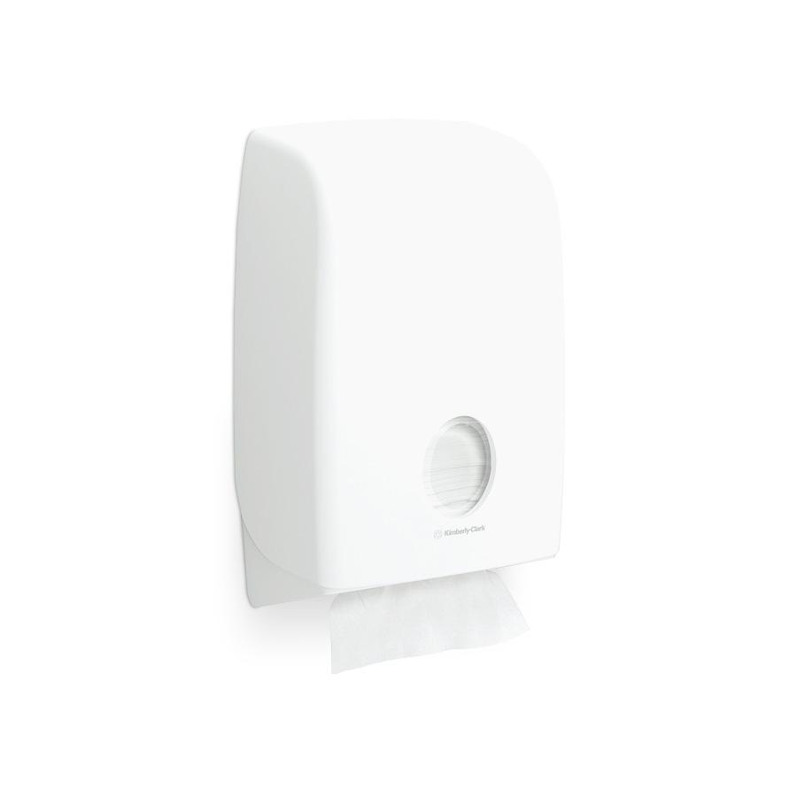 Zásobník skládaných papírových ručníků AQUARIUS 6945, plast, bílý