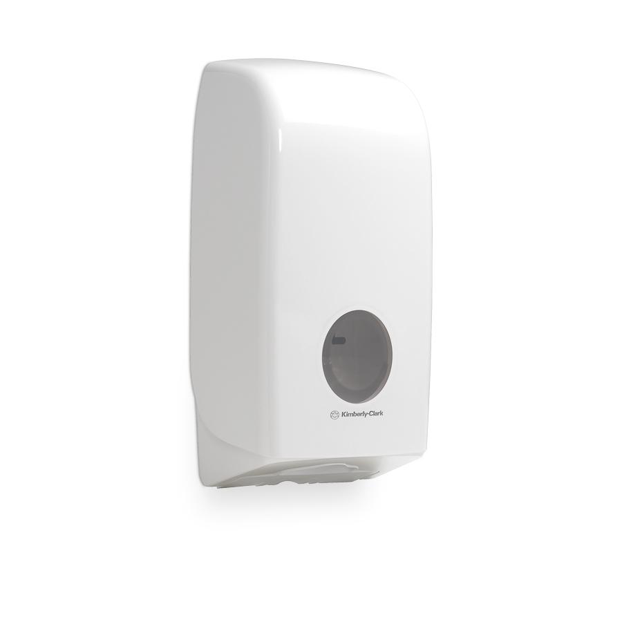 Zásobník skládaného toaletního papíru AQUARIUS 6946, plast, bílý
