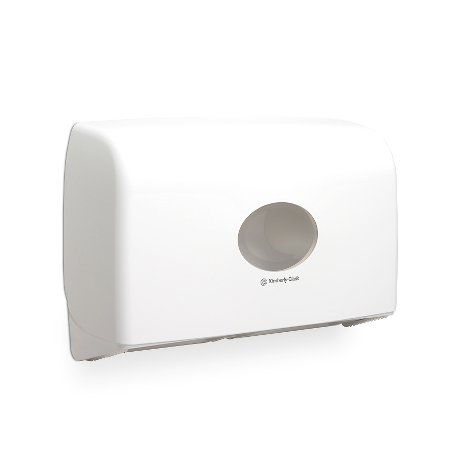 Zásobník toaletního papíru Mini Jumbo Dual AQUARIUS 6947, plast, bílý