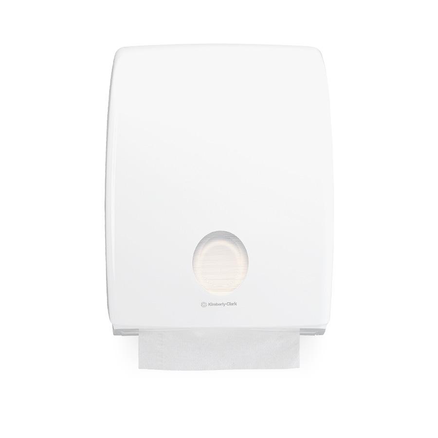 Zásobník skládaných papírových ručníků C, AQUARIUS 6954, plast, bílý