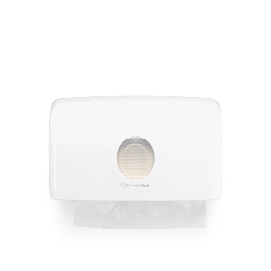 Zásobník skládaných papírových ručníků, AQUARIUS 6956, plast, bílý