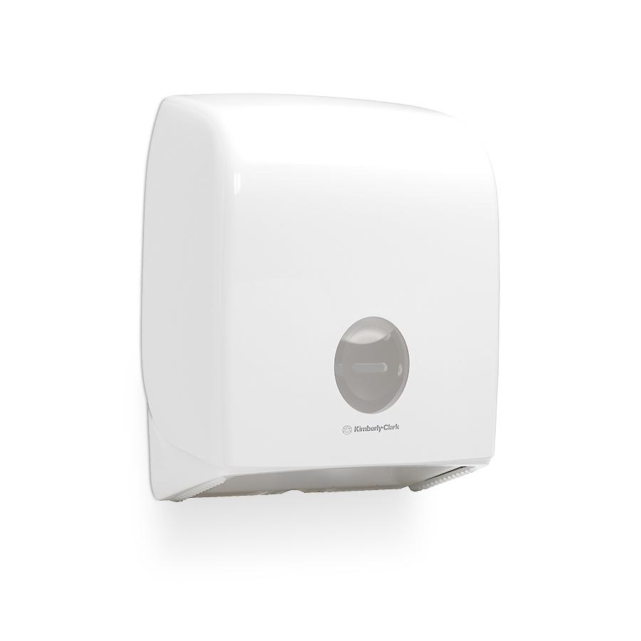 Zásobník toaletního papíru Mini Jumbo AQUARIUS 6958, plast, bílý