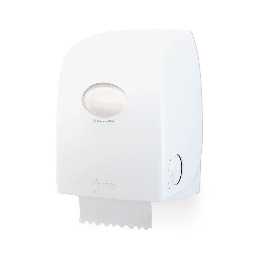 Zásobník papírových ručníků v roli  AQUARIUS Non-touch, plast, bílý