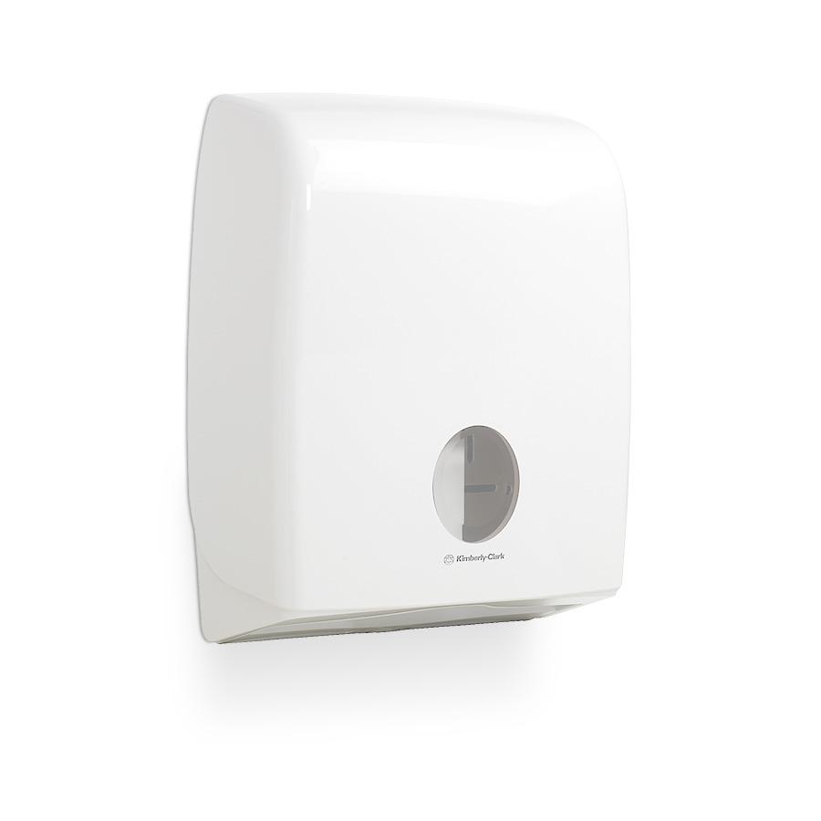 Zásobník skládaného toaletního papíru AQUARIUS 6990, plast, bílý