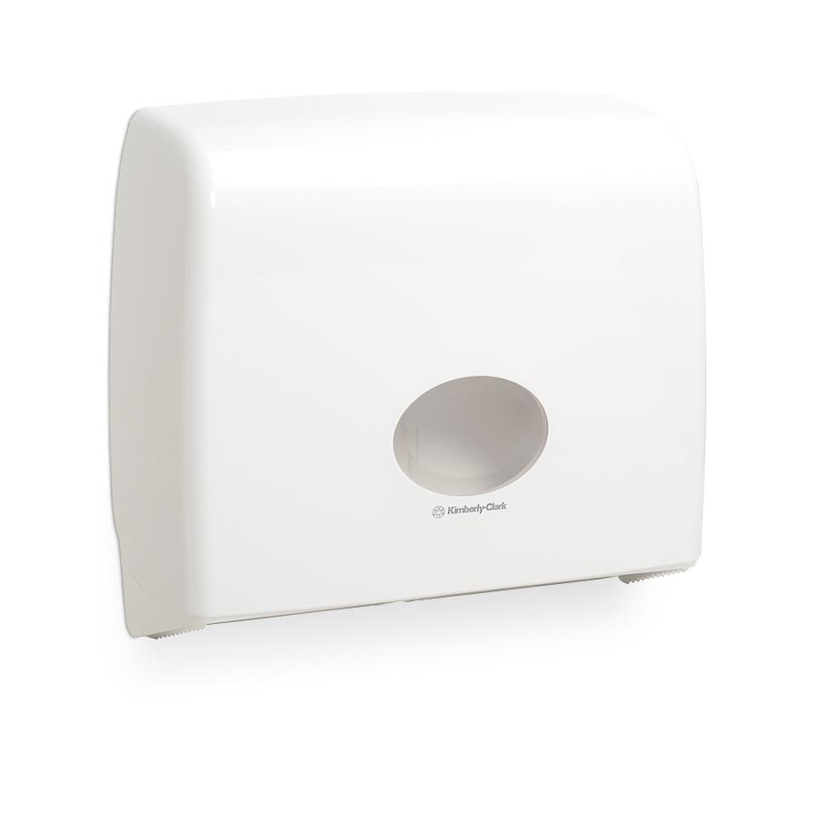 Zásobník toaletního papíru Midi Jumbo Non-Stop AQUARIUS 6991, plast, bílý