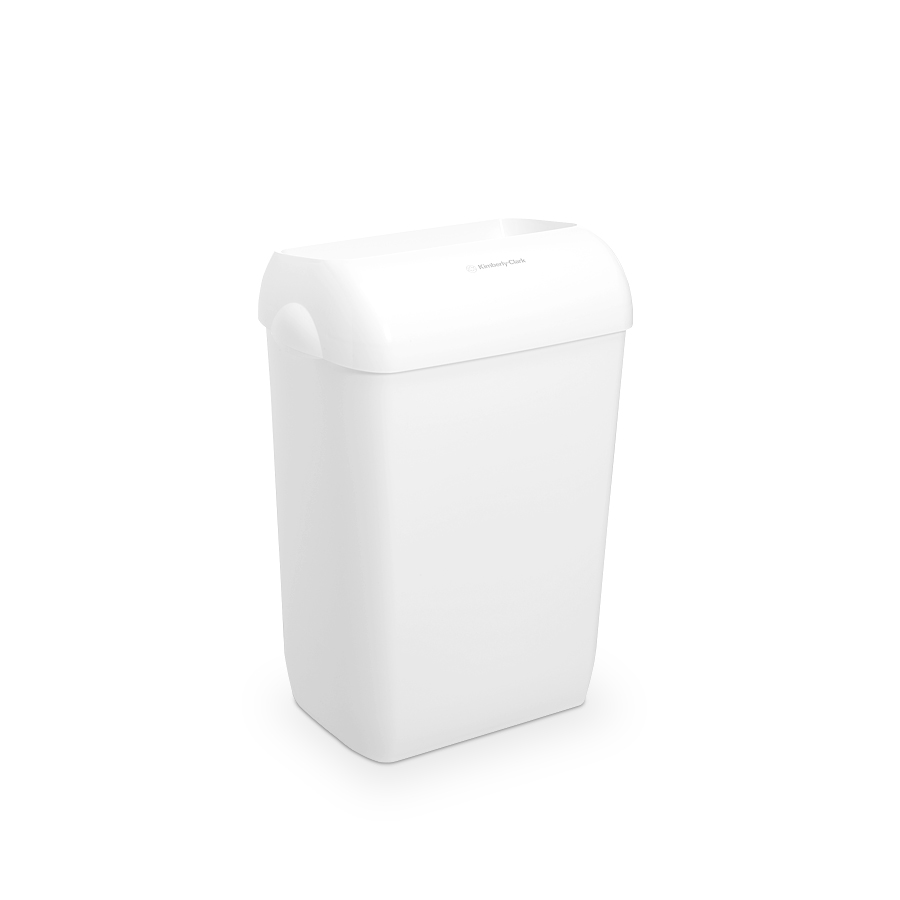 Koš odpadkový KIMBERLY-CLARK AQUARIUS 6993, 43 l, plastový, bílý