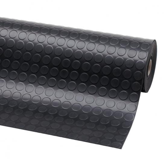 Rohož penízková Dot Runner, 3,5 mm, 100 cm x 10 m, pryž, černá
