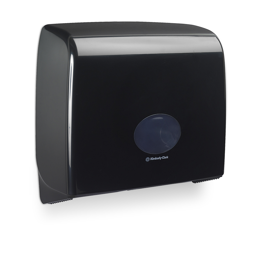 Zásobník toaletního papíru Mini Jumbo AQUARIUS, plast, černý