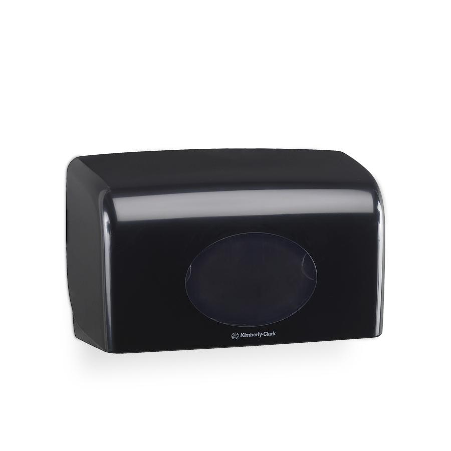 Zásobník toaletního papíru Twin AQUARIUS, plast, černý