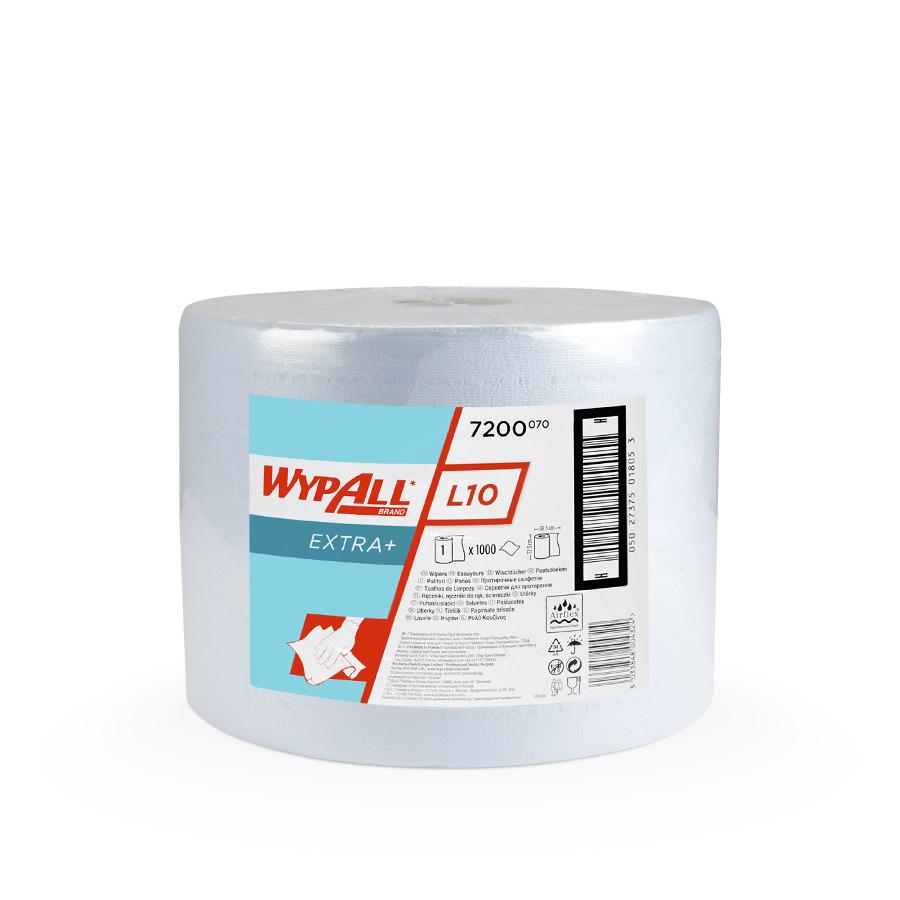 Utěrky WYPALL L10 EXTRA+, 380 x 235 mm, modrá