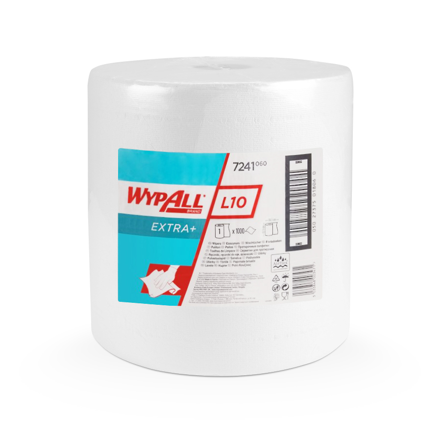 Utěrky  WYPALL L10 EXTRA+,  325 x 320 mm, bílá