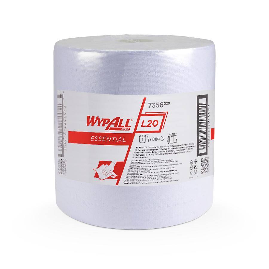 Utěrky WYPALL L20 ESSENTIAL, 380 x 350 mm