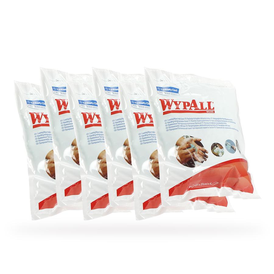 Vlhčené čisticí utěrky WypAll |  6 x 75 útržků
