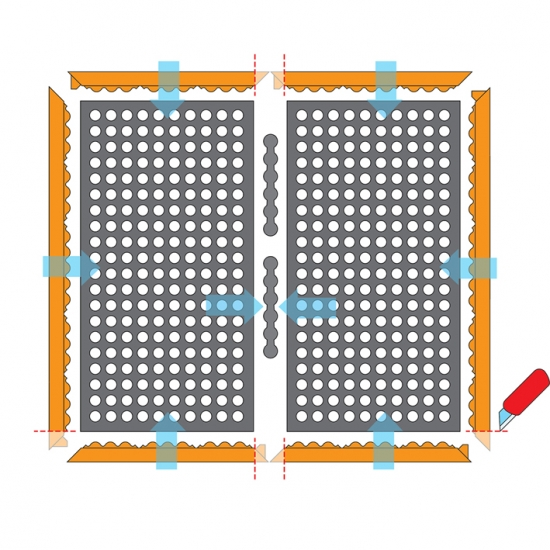 Hrana MALE pro 780 Safety Stance, 91 cm, nitril, oranžová