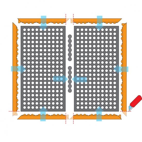 Hrana MALE pro 780 Safety Stance, 152 cm , nitril, oranžová