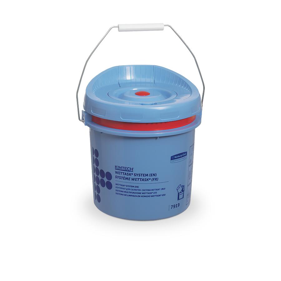 Kyblík pro role WETTASK, modrý, 4 ks v kartonu
