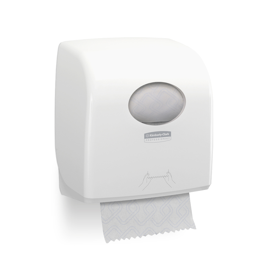 Zásobník papírových ručníků v roli AQUARIUS Slimroll nový, plast, bílý