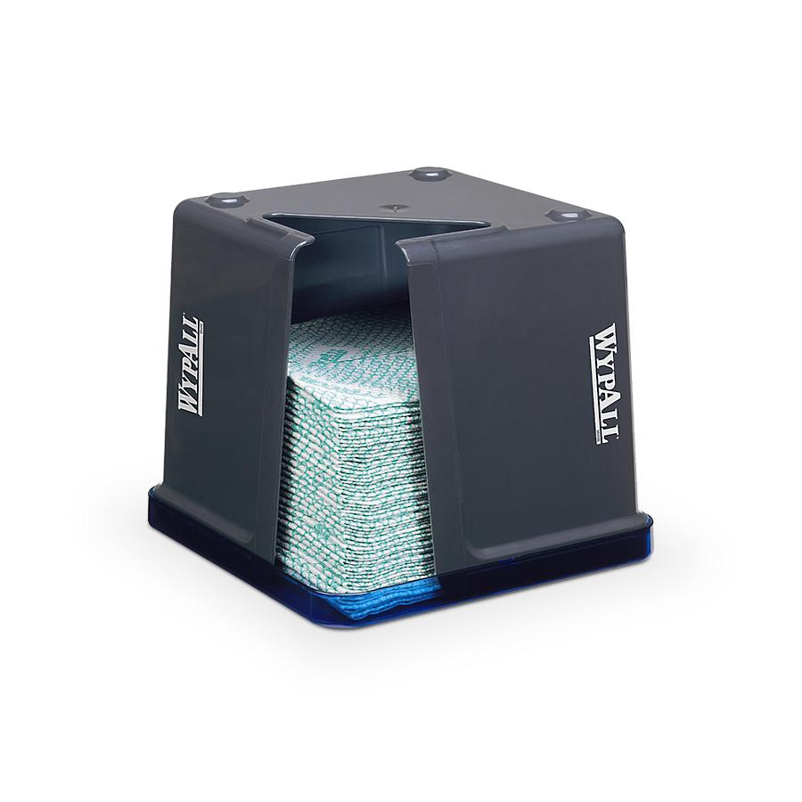 Zásobník skládaných utěrek WYPALL, čtverhranný,  modrý/šedý