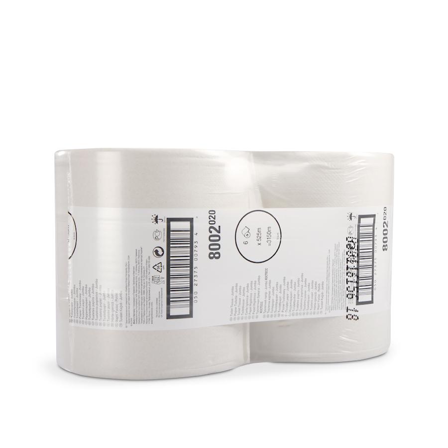 Toaletní papír MAXI JUMBO, 26,5 cm, bílý, 6 rolí x 525 m