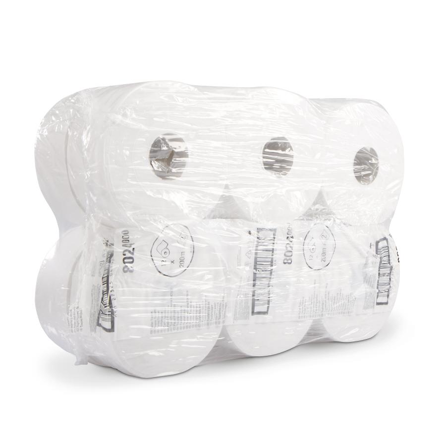Toaletní papír MIDI JUMBO 20, bílý, 2 vrstvy, 12 rolí x 526 útržků