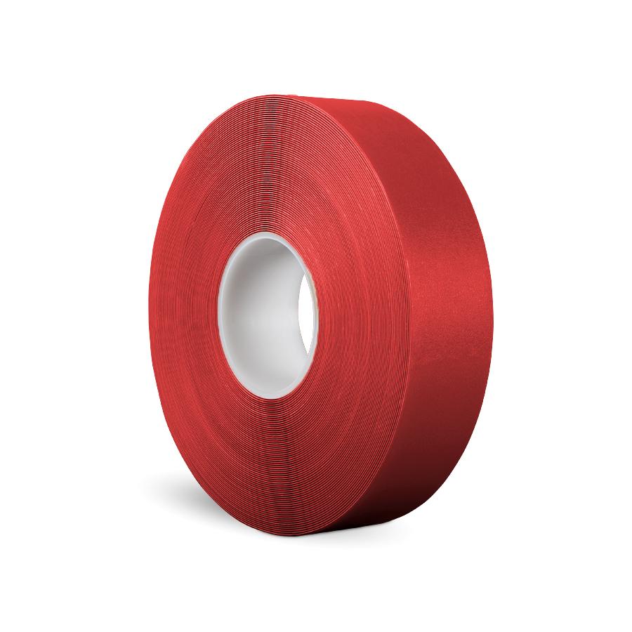 Páska P-Route 50 mm x 30 m, červená, vyznačovací, PVC, tloušťka 0,96 mm